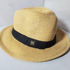 UV Line Straw Fedora Hat Sun Protection